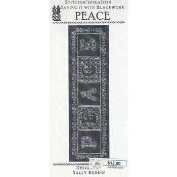 Stitchin'spiration Stitchin'spiration Saying It With Blackwork - Peace