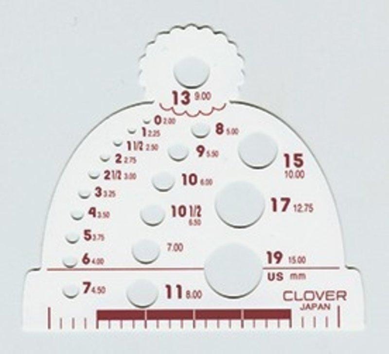 Clover Clover Knitting Needle Gauge
