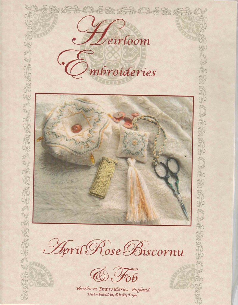 Heriloom Embroideries Heriloom Embroideries April Rose Biscornu & Fob