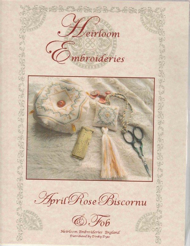 Heriloom Embroideries Heriloom Embroideries April Rose Biscornu & Fob