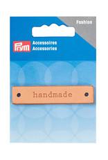 "Prym Prym ""Handmade"" Leather Label, Natural Rectangle"