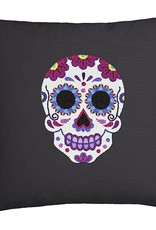 Duftin Duftin Punch By Number/Punch Needle Embroidery Sugar Skull Pillow, Grey, 40cm x 40cm