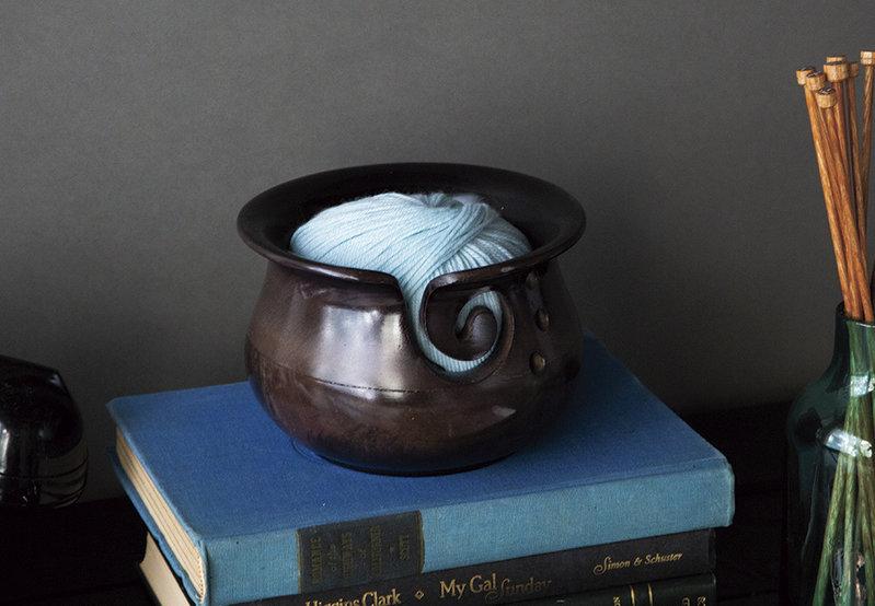 Knit Picks Knit Picks Black Mango Wood Yarn Bowl