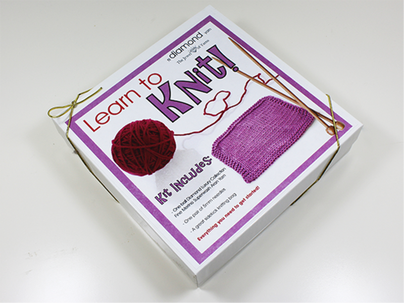 Diamond Learn to Knit Holiday Gift Set