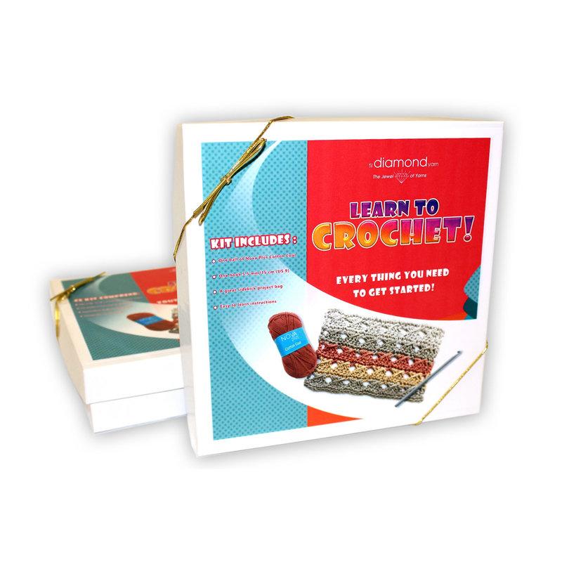 Diamond's Own Diamond Learn to Crochet Holiday Gift Set