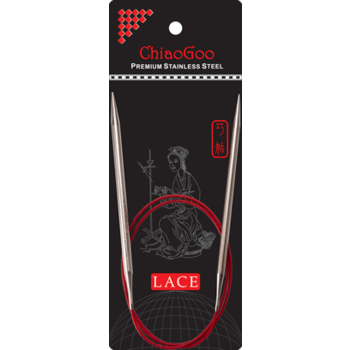 """ChiaoGoo ChiaoGoo Red Lace 32"""" (80cm) Fixed Circular Stainless Steel Needle"""
