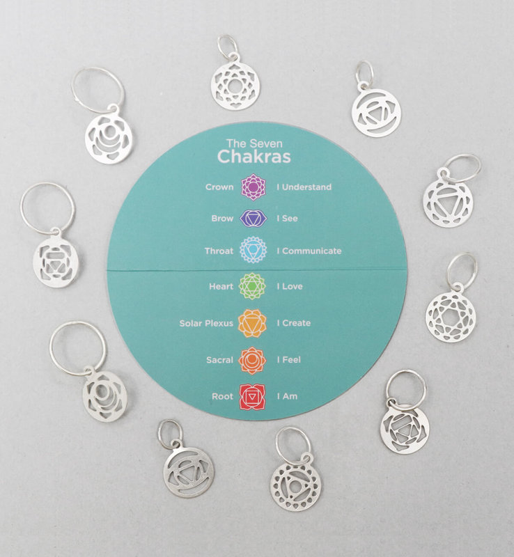 Knitter's Pride Knitter's Pride Mindful Collection Silver-Plated  Chakra Stitch Markers