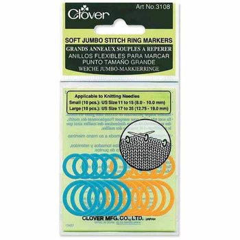 Clover Clover 3108 - Soft Stitch Ring Markers - Jumbo - 20 pcs.