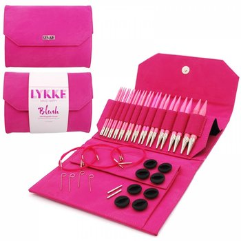 "LYKKE Crafts LYKKE Blush 5"" Interchangeable Circular Knitting Needle Set - Fuchsia Denim Effect"