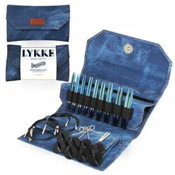 "LYKKE Crafts LYKKE 3.5"" Interchangeable Circular Knitting Needle Set Indigo"