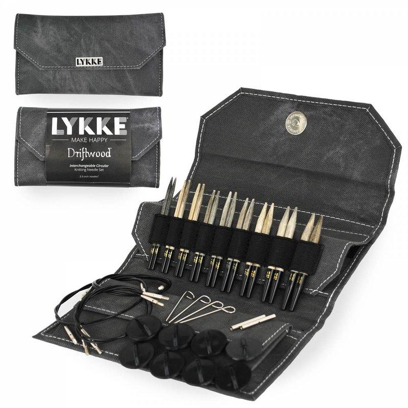 "LYKKE Crafts LYKKE 3.5"" Interchangeable Circular Knitting Needle Set Driftwood"