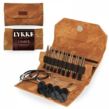"LYKKE Crafts LYKKE 3.5"" Interchangeable Circular Knitting Needle Set Umber"