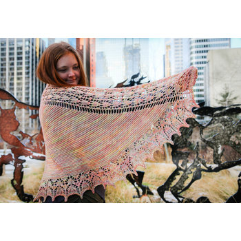 Ancient Arts Ensorcell Shawl Kit in Ancient Arts Nettle DK