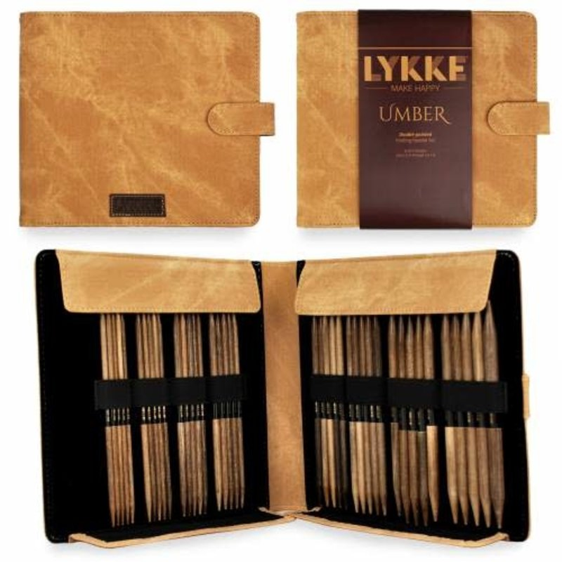 """LYKKE Crafts LYKKE Umber 6"""" Double-Pointed Needle Set - Large Sizes"""