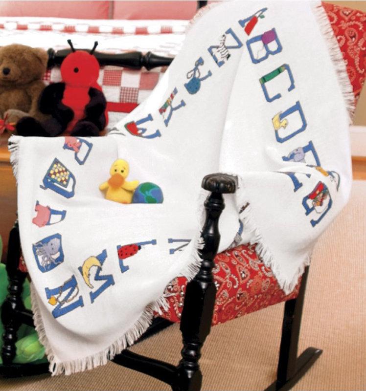 DMC DMC Charlescraft Baby Alphabet Afghan, AF7311-6750 45-Inch