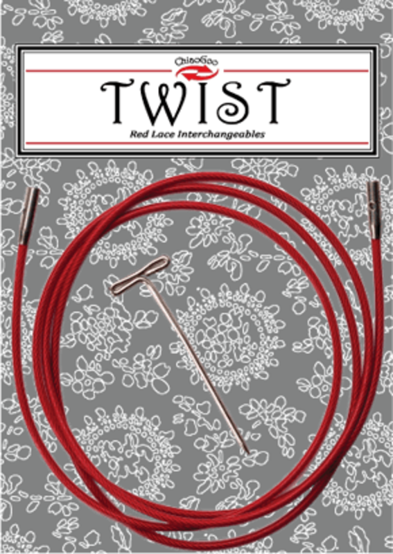 ChiaoGoo Chiaogoo Twist Red Cables - Large (75 L)