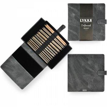 "LYKKE Crafts LYKKE Driftwood 10"" Straight Needle Set - Grey Fabric Pouch"