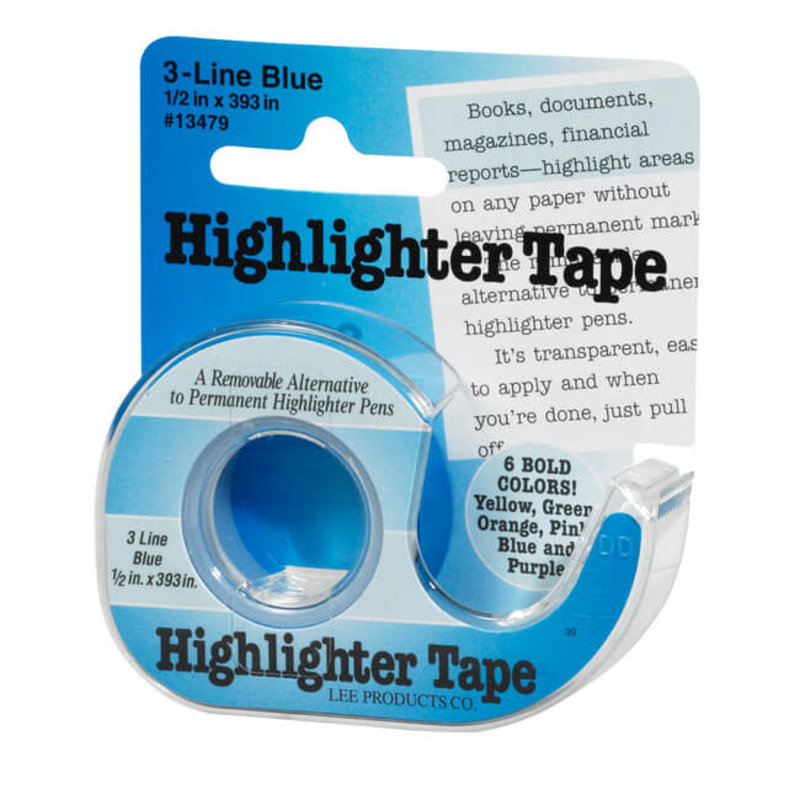 Lee Products Lee Products Removeable Highlighter Tape