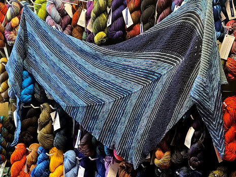 Malabrigo KAL 2021: Temperance Shawl - Shop Sample Complete