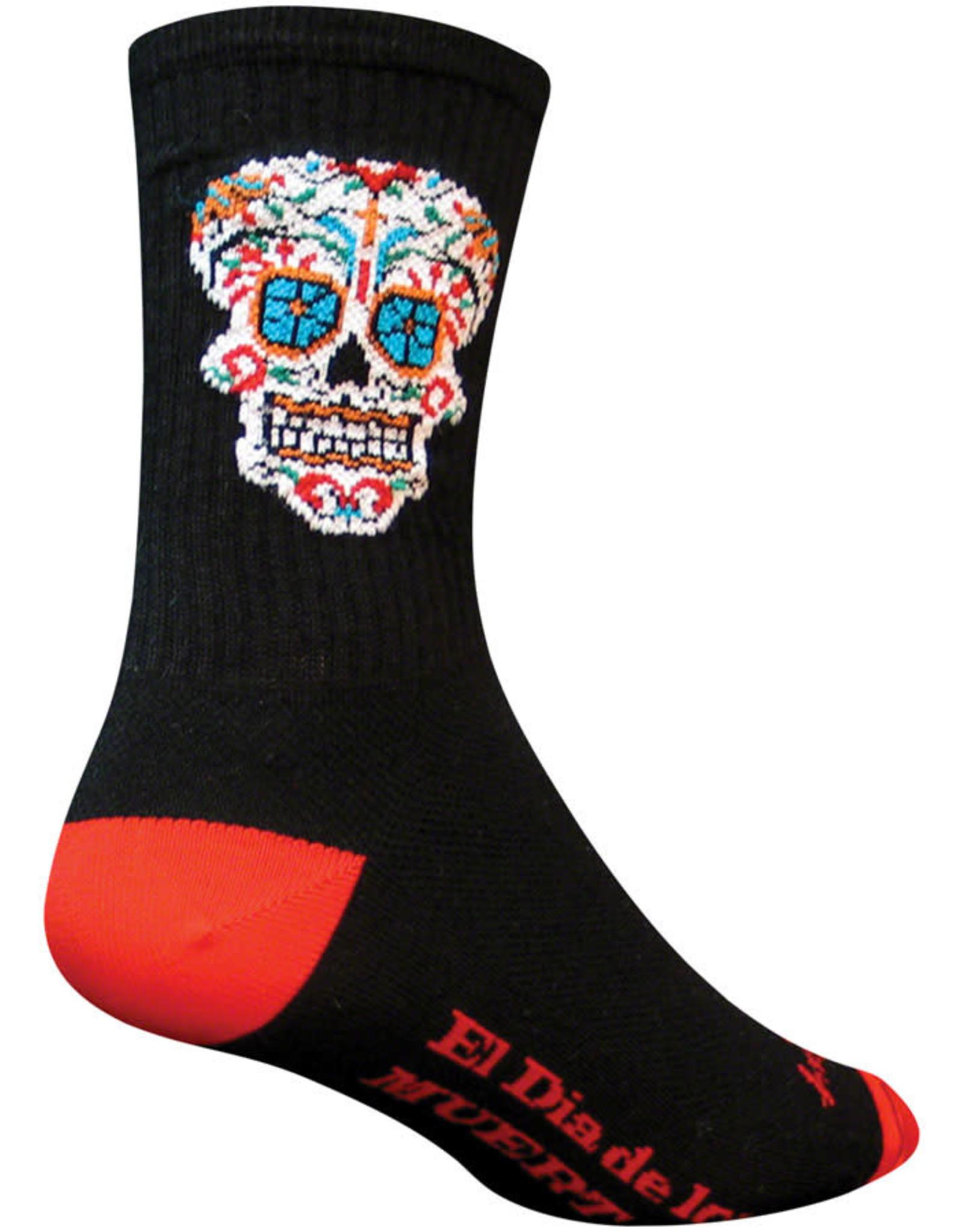 Black SM//MD New SockGuy Gnomies 6 Crew Sock
