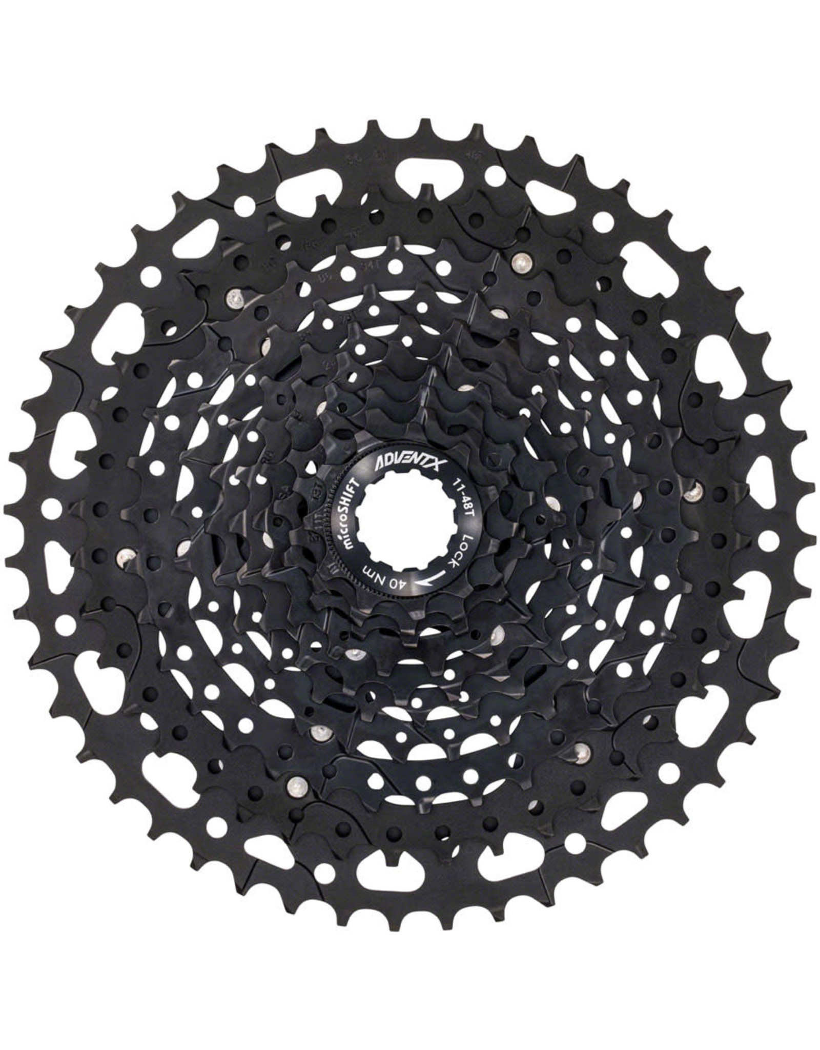 microSHIFT microSHIFT ADVENT X Cassette - 10 Speed, 11-48t, Black, Alloy Spider