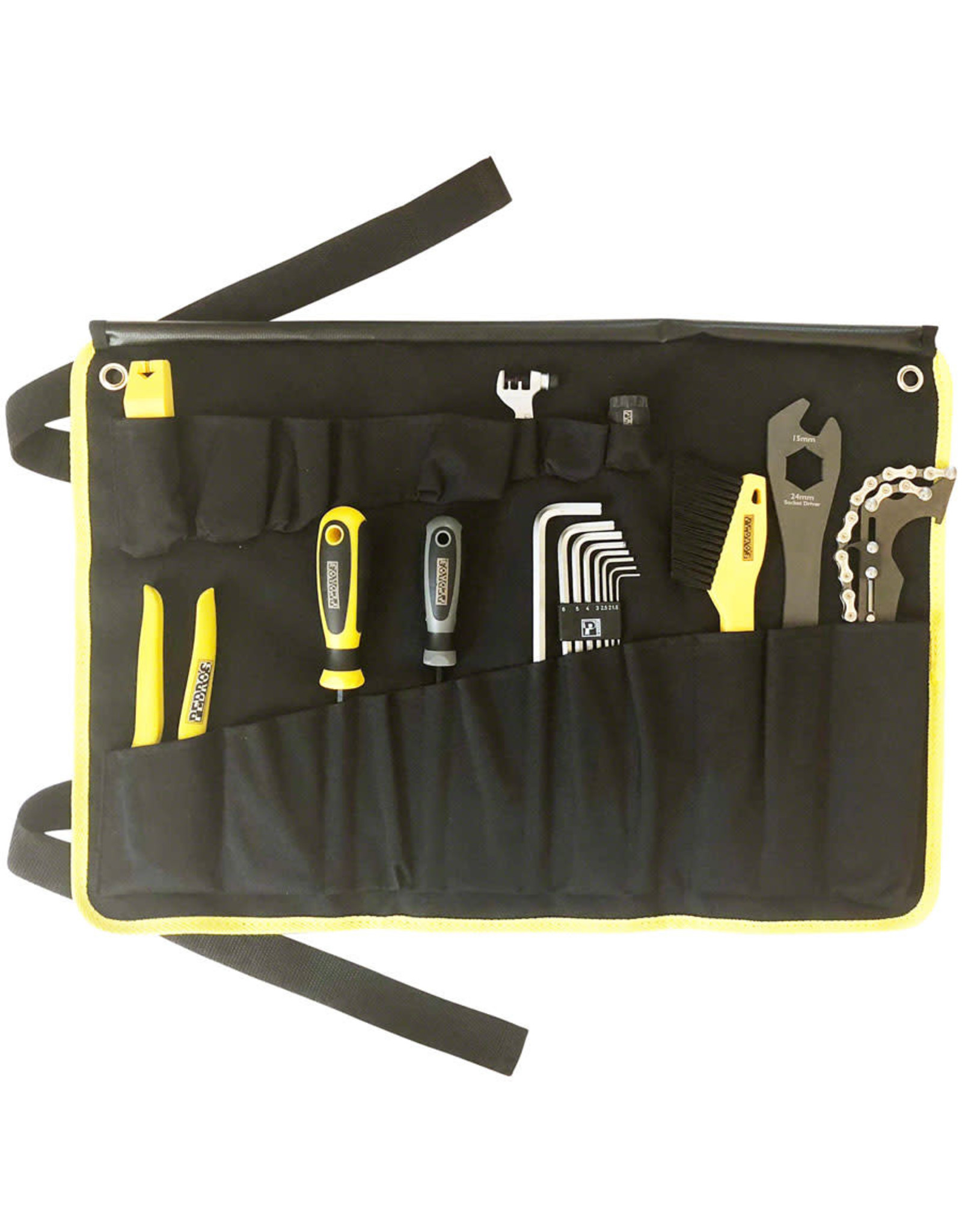 Pedro's Pedro's Starter Tool Kit 1.1. Including 19 Tools And Tool Wrap, Black