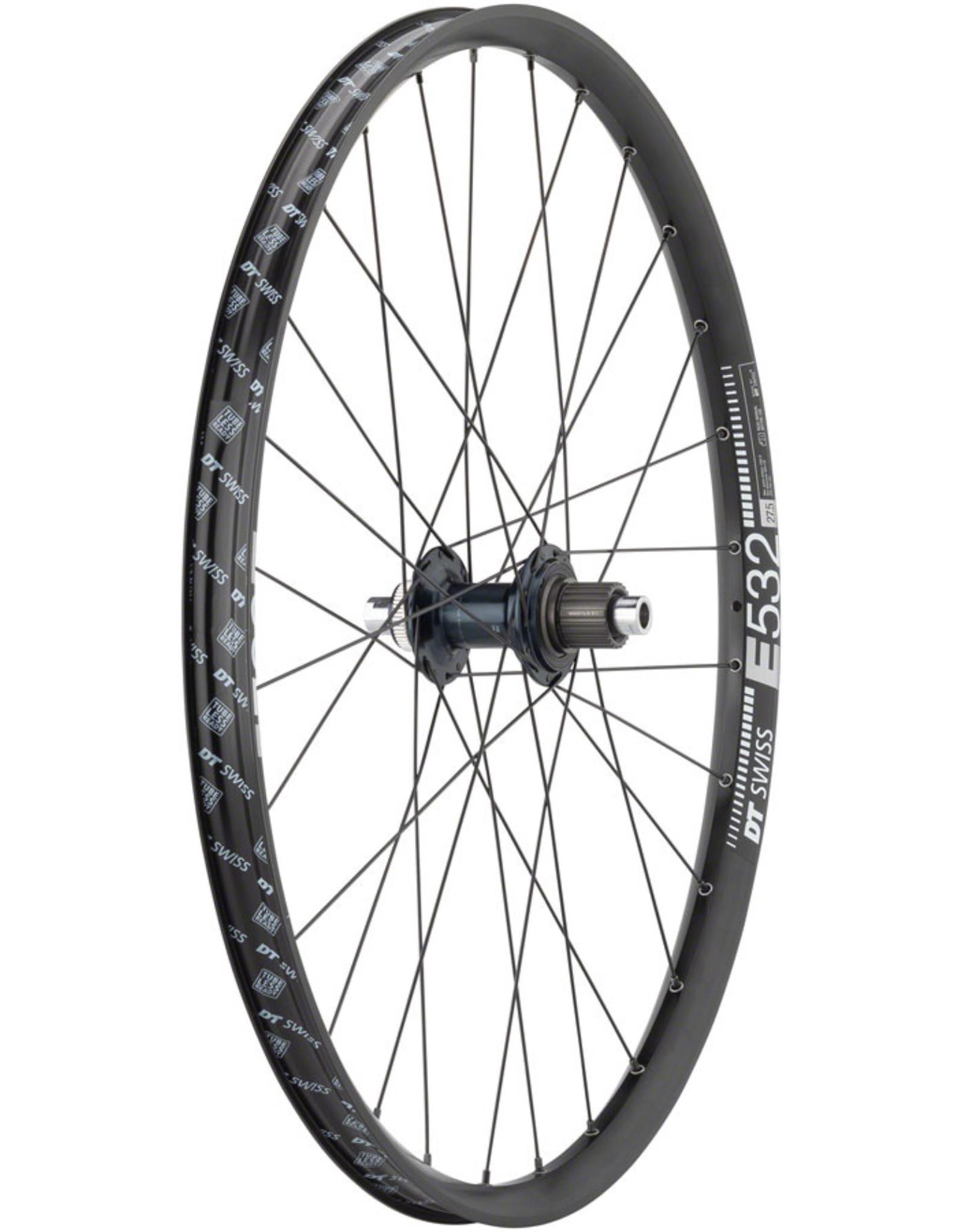 "Quality Wheels Shimano SLX/DT E532 Rear Wheel - 27.5"", 12 x 148mm, Center-Lock, Micro Spline, Black"