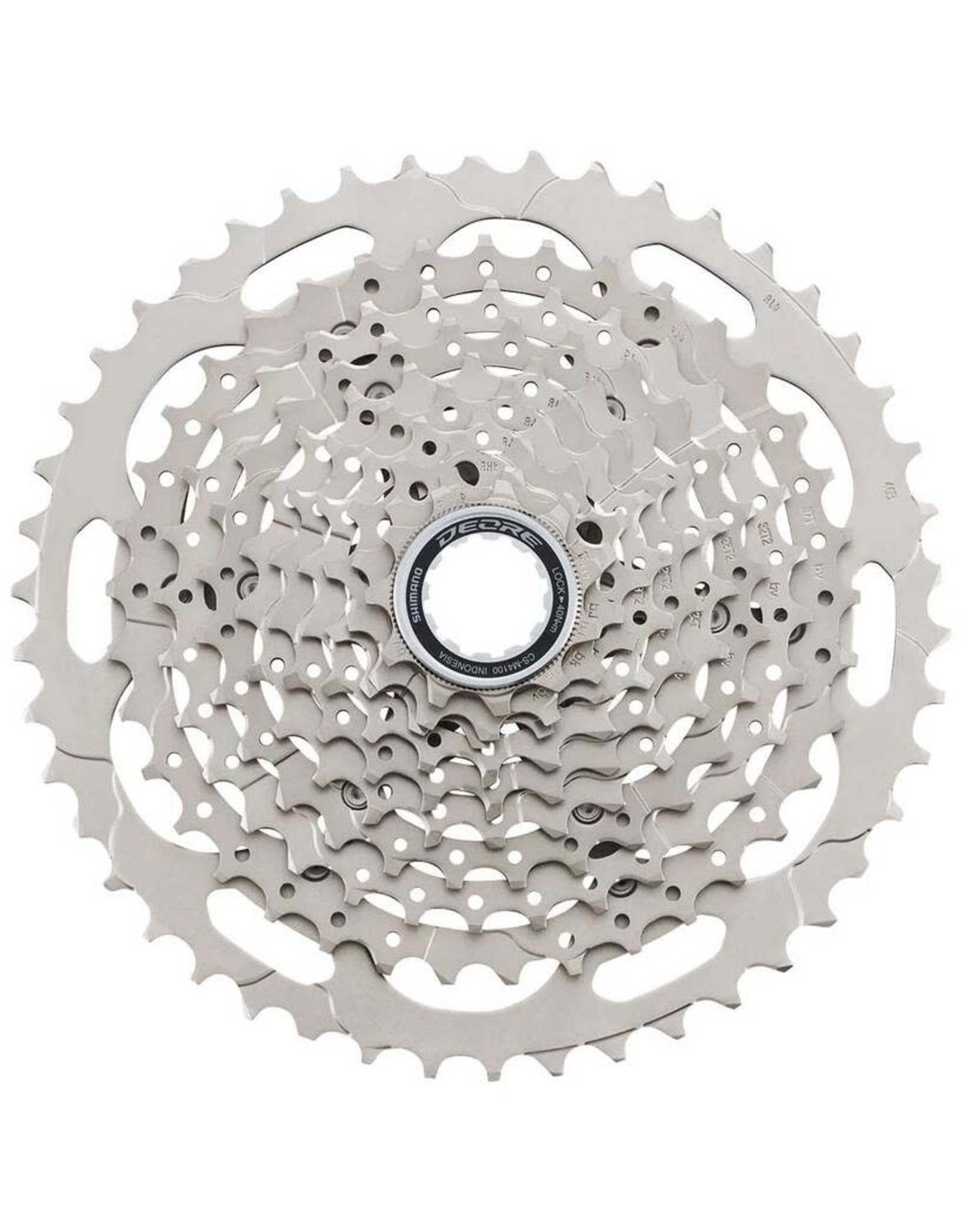 Shimano Shimano Deore CS-M4100-10 Cassette - 10-Speed, 11-46t, Silver