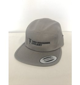 Two Hoosiers Cyclery 2021 Two Hoosiers Cyclery 5 Panel Cap Grey