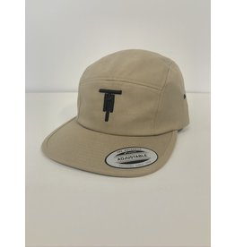 Two Hoosiers Cyclery 2021 Two Hoosiers Cyclery 5 Panel Cap Khaki