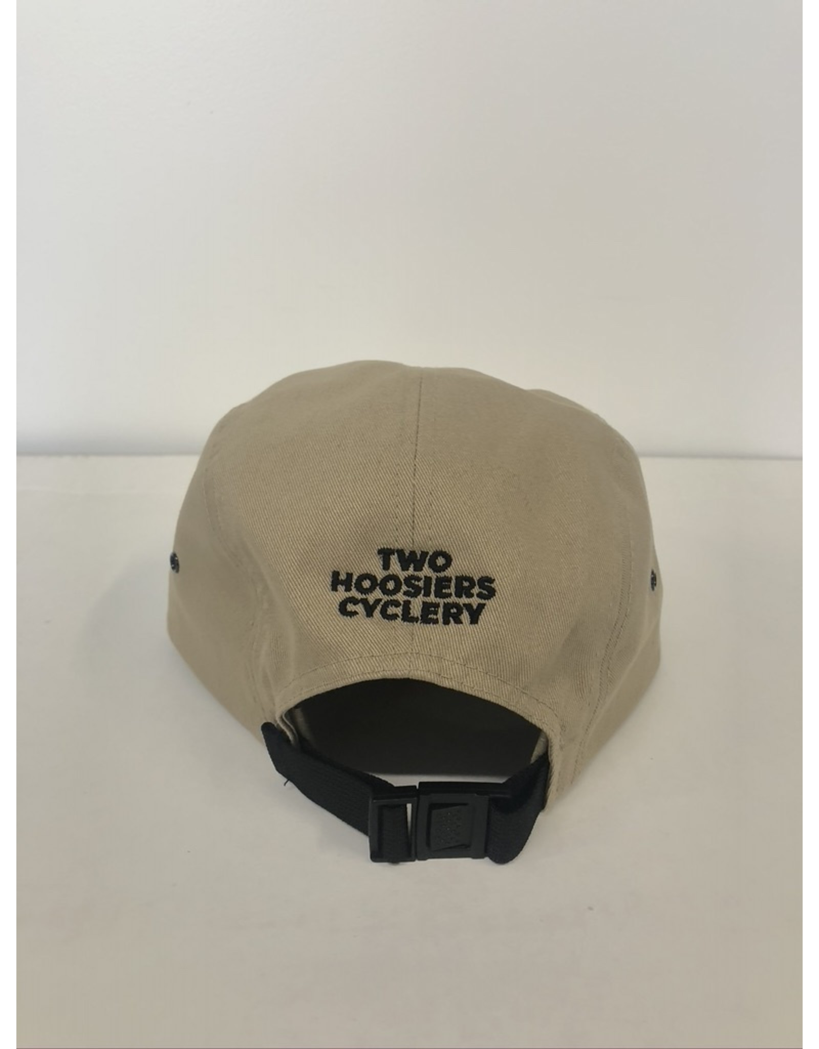 2021 Two Hoosiers Cyclery 5 Panel Cap Khaki