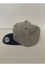 2021 Two Hoosiers Cyclery Classic Snapback Heather Grey/Navy