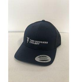 2021 Two Hoosiers Cyclery Retro Trucker Hat Navy