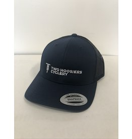 Two Hoosiers Cyclery 2021 Two Hoosiers Cyclery Retro Trucker Hat Navy