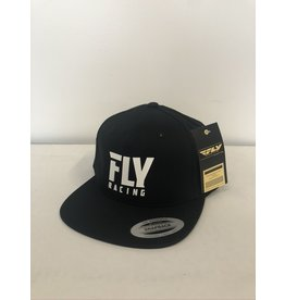 FLY RACING FLY LOGO HAT BLACK ADULT
