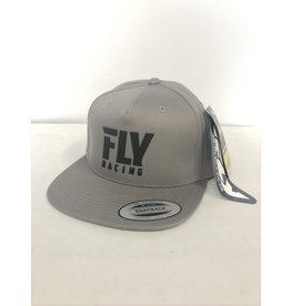 FLY RACING FLY LOGO HAT GREY HEATHER ADULT