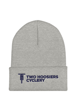 Two Hoosiers Cyclery 2021 Two Hoosiers Cyclery Cuffed Beanie Heather Grey