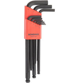 Bondhus Bondhus Ball End L Hex Wrench Set of 9: 1.5,2,2.5,3,4,5,6,8,10mm
