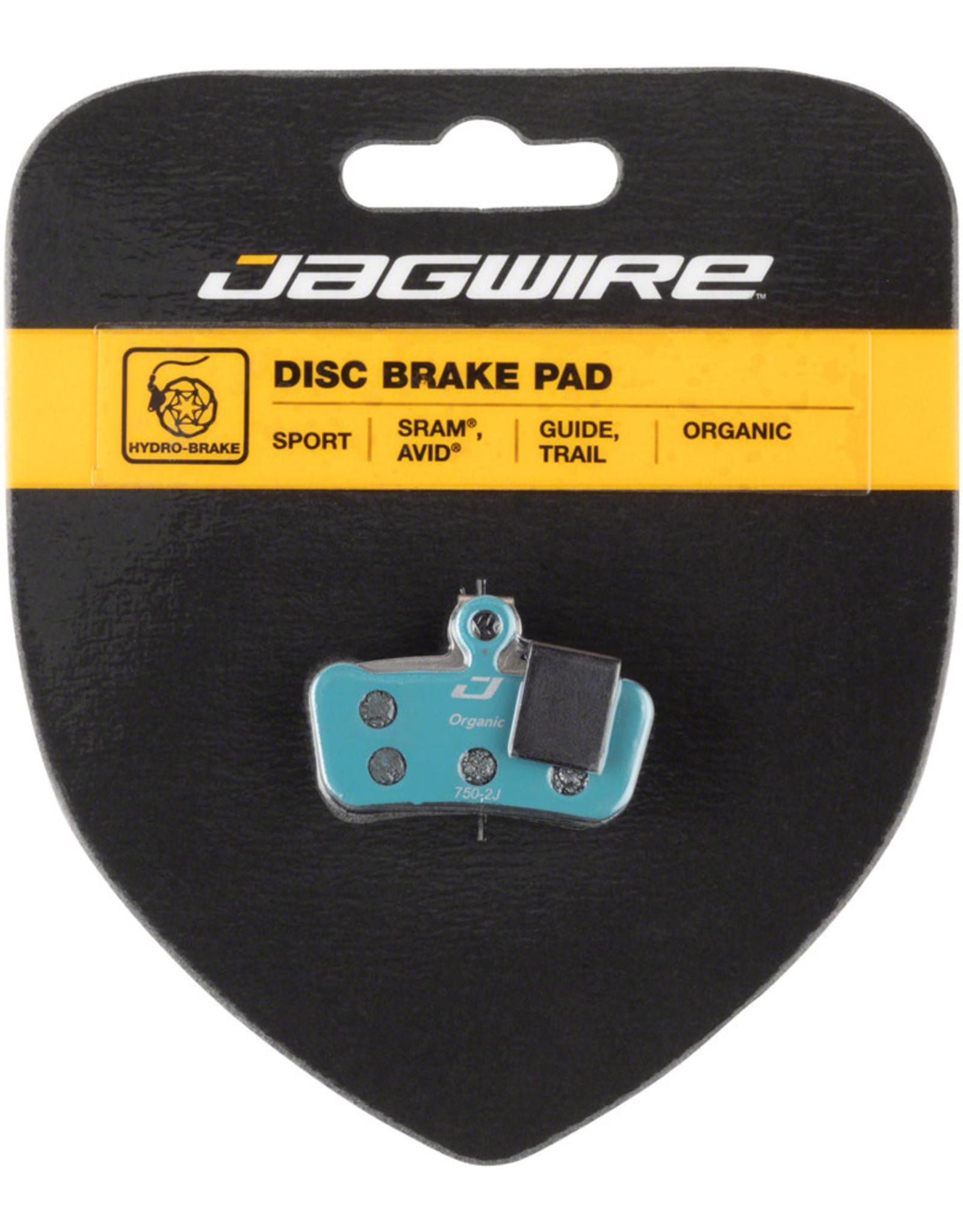 Jagwire Jagwire Sport Organic Disc Brake Pads for SRAM Guide RSC, RS, R, Avid Trail