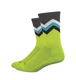 "DeFeet DeFeet Aireator 6"" Socks - Jalapeno/Brown/White/Celeste/Navy"