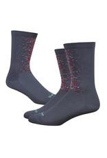 "DeFeet DeFeet Aireator 6"" Socks - Graphite w/ Multi Colors"