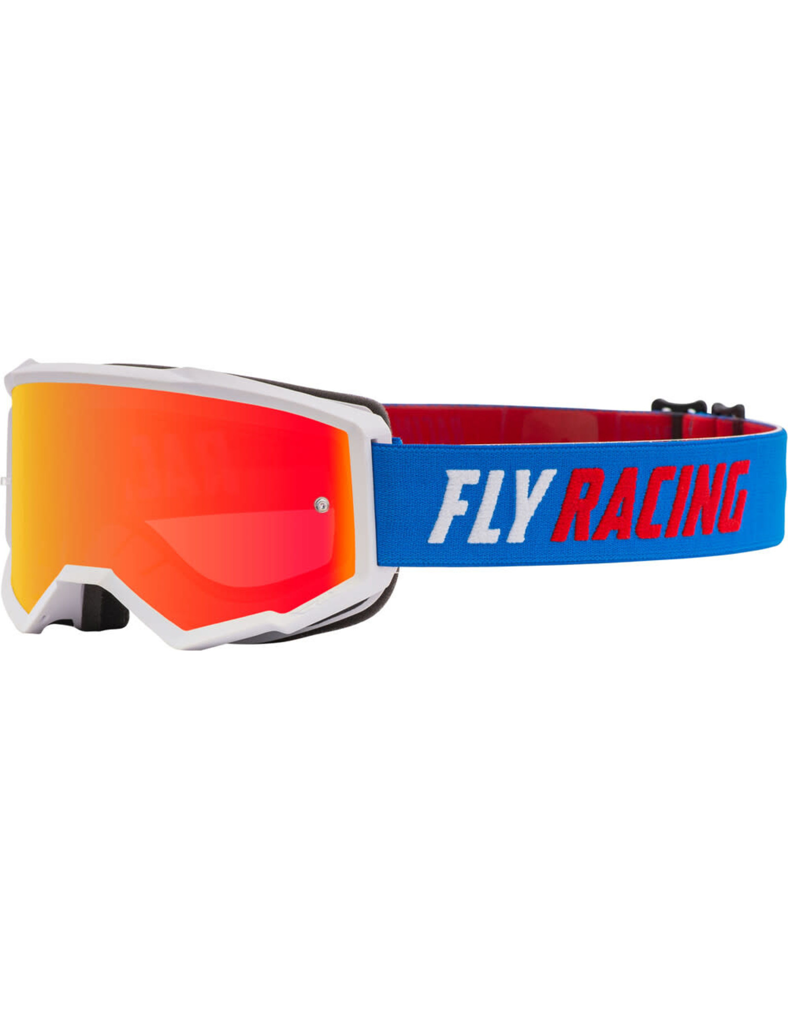 FLY RACING Fly Racing Zone Goggle BLUE/WHITE/RED W/RED MIRROR/SMOKE LENS W/POST