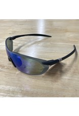 Optic Nerve Optic Nerve Sunglasses: Fixie Dash Matte Black/Black Tips, with Smoke/Green Flash Lens