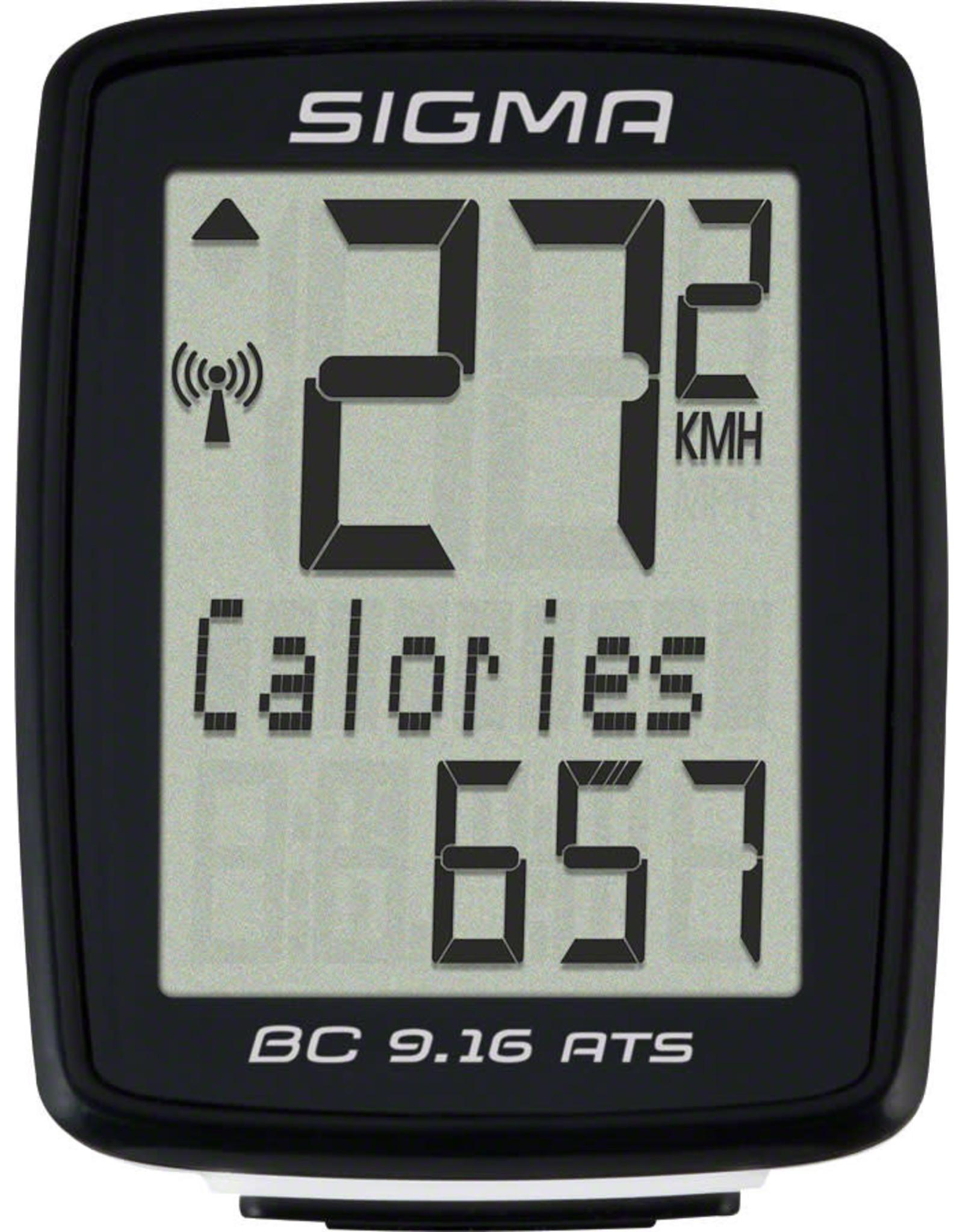 Sigma Sigma BC 9.16 ATS Bike Computer - Wireless, Black