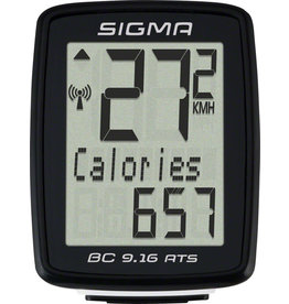 Sigma Sigma BC 9.16 ATS Bike Computer - Wireless, Black