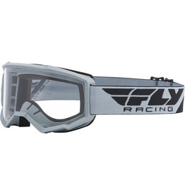 FLY RACING Fly Racing Focus Goggle Grey w/ Clear Lens