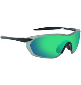 Optic Nerve Optic Nerve Sunglasses: Fixie Dash Matte Black/Black Tips, with Smoke/Green Flash Lens