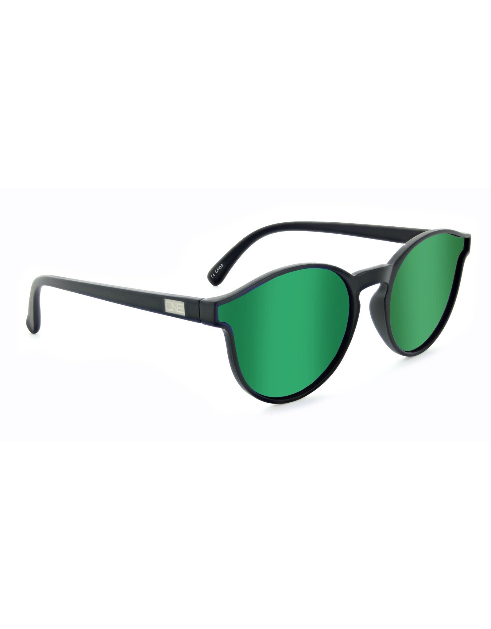 Optic Nerve Optic Nerve Sunglasses: Proviso Matte Black w/ Polarized Smoke w/ Green Mirror Lens