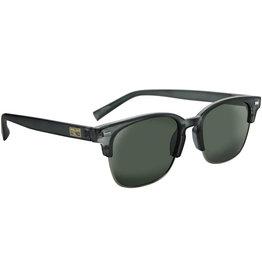 Optic Nerve Optic Nerve Sunglasses: Sanibel Matte Crystal Gray w/ Polarized Smoke Lens