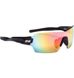 Optic Nerve Sunglasses: Vapor Shiny Black w/ Black Tips IC